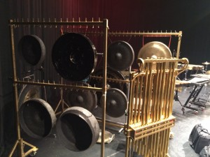 Tuned gong set up for Salonen's Foreign Bodies