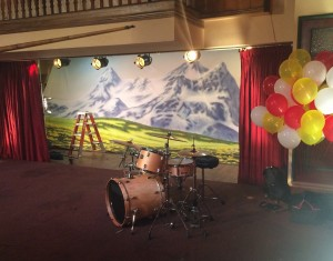 Drum set used for Wienerschnitzel commercial
